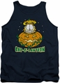Garfield tank top Cat O Lantern mens navy