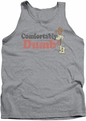 Garfield tank top Comfortably Dumb mens heather