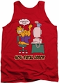 Garfield tank top Compute This mens red