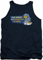 Garfield tank top Contradicition In Terms mens navy