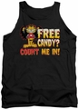 Garfield tank top Count Me In mens black