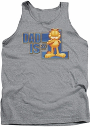 Garfield tank top Dad Is Number One mens heather