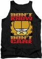 Garfield tank top Don't Know Don't Care mens black