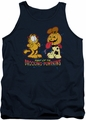 Garfield tank top Drooling Pumpkins mens navy