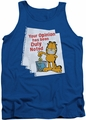 Garfield tank top Duly Noted mens royal