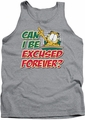 Garfield tank top Excused Forever mens heather
