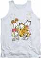 Garfield tank top Friends Are Best mens white