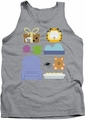 Garfield tank top Gift Set mens athletic heather