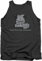 Garfield tank top Good Morning Sunshine mens charcoal