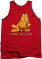 Garfield tank top Happy Face mens red