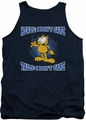 Garfield tank top Heads Or Tails mens navy