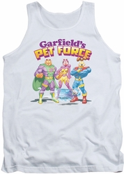 Garfield tank top Heroes Await mens white