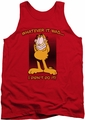 Garfield tank top I Didn't Do It mens red