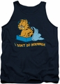 Garfield tank top I Don't Do Mornings mens navy