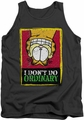 Garfield tank top I Don'T Do Ordinary mens charcoal