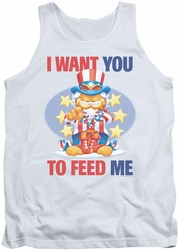 Garfield tank top I Want You mens white