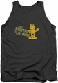 Garfield tank top Just Pretend I'm Listening mens charcoal
