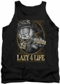 Garfield tank top Lazy 4 Life mens black