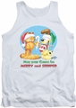 Garfield tank top Merry And Striped mens white