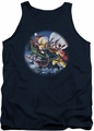 Garfield tank top Moonlight Ride mens navy