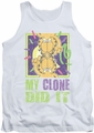Garfield tank top My Clone Did It mens white