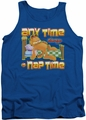 Garfield tank top Nap Time mens royal
