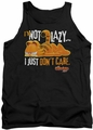 Garfield tank top Not Lazy mens black