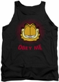 Garfield tank top Obey Me mens black