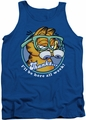 Garfield tank top Performing mens royal