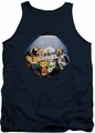 Garfield tank top Playing With The Big Dogs mens navy
