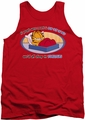 Garfield tank top Pop Out Of Bed mens red