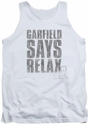 Garfield tank top Relax mens white