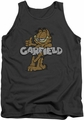 Garfield tank top Retro Garf mens charcoal