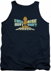 Garfield tank top Rise Not Shine mens navy