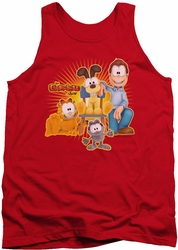 Garfield tank top Say Cheese mens red