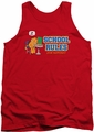 Garfield tank top School Rules mens red