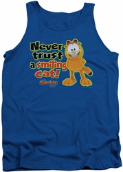 Garfield tank top Smiling mens royal
