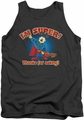 Garfield tank top Super mens charcoal