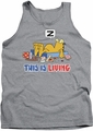 Garfield tank top This Is Living mens heather