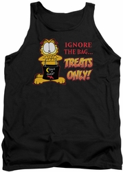 Garfield tank top Treats Only mens black