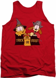 Garfield tank top Trick Or Treat mens red