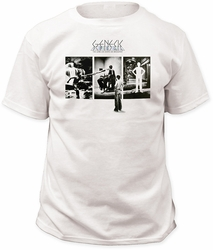 Genesis t-shirt down on broadway mens white pre-order