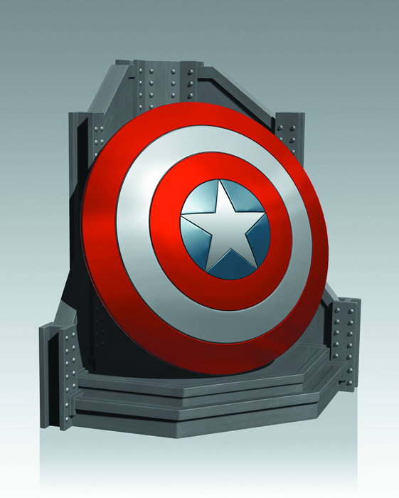 Gentle Giant Captain America Shield Bookend Urban Collector