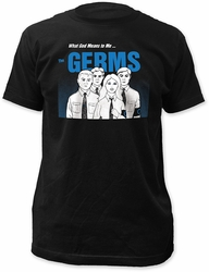 Germs what god means to me... fitted jersey tee mens black pre-order