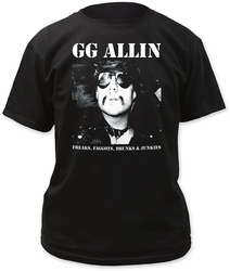 GG Allin freaks… adult tee mens black pre-order