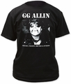 GG Allin freaks� adult tee mens black pre-order