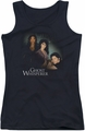 Ghost Whisperer juniors tank top Diagonal Cast black