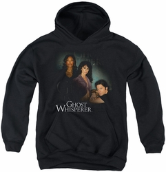 Ghost Whisperer youth teen hoodie Diagonal Cast black
