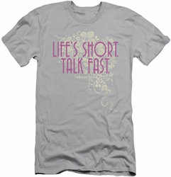 Gilmore Girls slim-fit t-shirt Lifes Short mens silver
