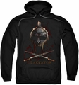 Gladiator pull-over hoodie Helmet adult black
